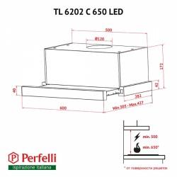 Вытяжка Perfelli TL 6202 C S/I 650 LED