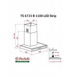 Вытяжка Perfelli TS 6723 B 1100 BL LED Strip