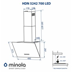 Вытяжка Minola HDN 5242 WH 700 LED