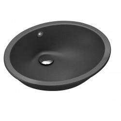 Умывальник Aquasanita BQC49 черный металлик