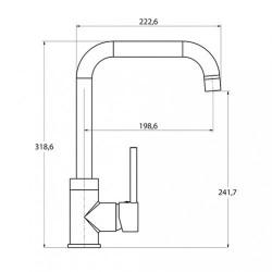 Кухонный смеситель AQUAsanita Mirrus 5063 никель
