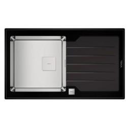 Кухонная мойка Teka Diamond 1B 1D 86 черная