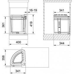 Сортер отходов Franke Pivot (27л)
