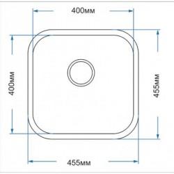 Кухонная мойка Asil AS 333-R65 полированная