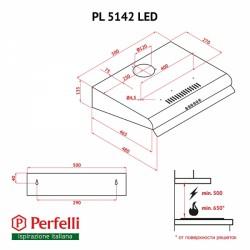 Вытяжка Perfelli PL 5142 IV LED