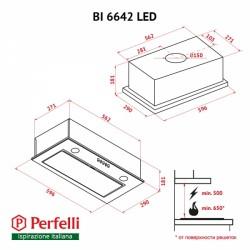 Вытяжка Perfelli BI 6642 WH LED