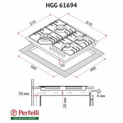 Варочная поверхность Perfelli HGG 61694 BL