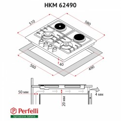Варочная поверхность Perfelli HKM 62490 BL