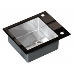 Кухонная мойка Germece BLACK GLASS 60х51