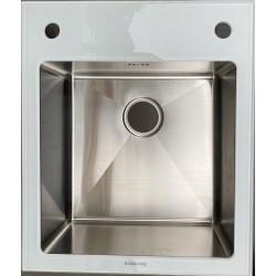 Кухонная мойка Germece WHITE GLASS 60х51