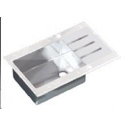 Кухонная мойка Germece WHITE GLASS 78х51