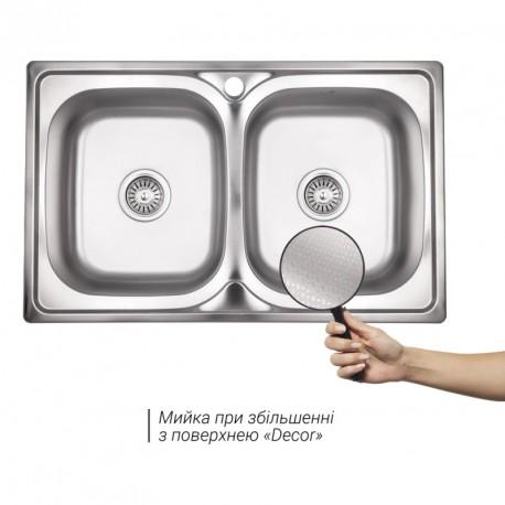 Кухонная мойка Lidz 7948 декор