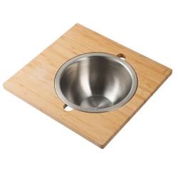 Сервировочная доска для кухонной мойки с чашей  Kraus KAC - 205BB