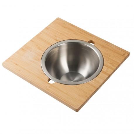 Сервировочная доска для кухонной мойки с чашей из нержавеющей стали Kraus KAC - 205BB