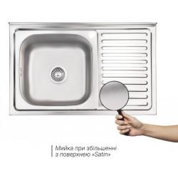 Кухонная мойка Lidz 5080-L матовая
