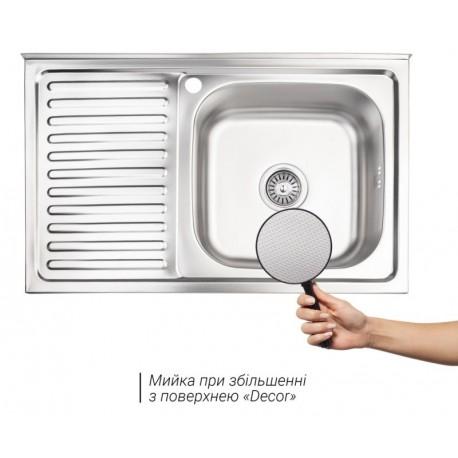 Кухонная мойка Lidz 5080-R декор