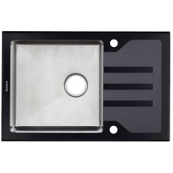 Кухонная мойка Germece BLACK GLASS 78х51
